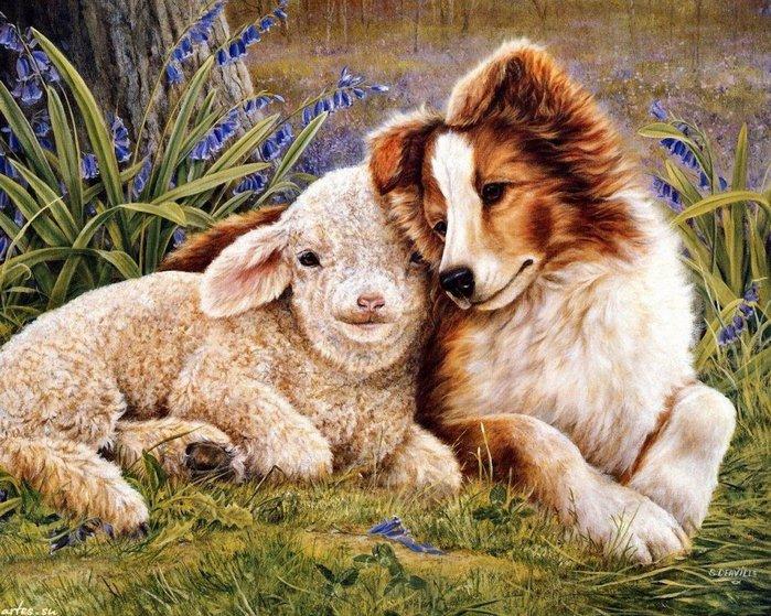Нужно очень любить наших милых мохнатых друзей. чтобы так отражать их характеры и чувства на картинах.