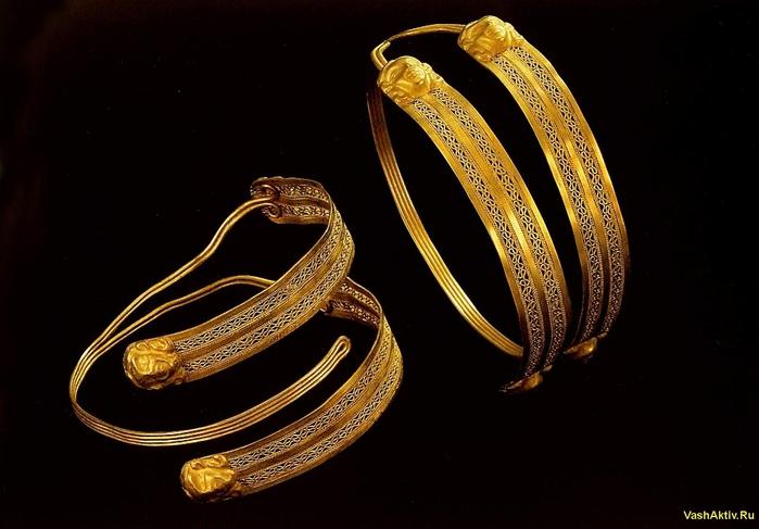 золото серьги кольцами