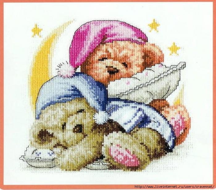 свой цитатник или сообщество!  Спящие игрушки-мишки. цветная схема.  Прочитать целикомВ.