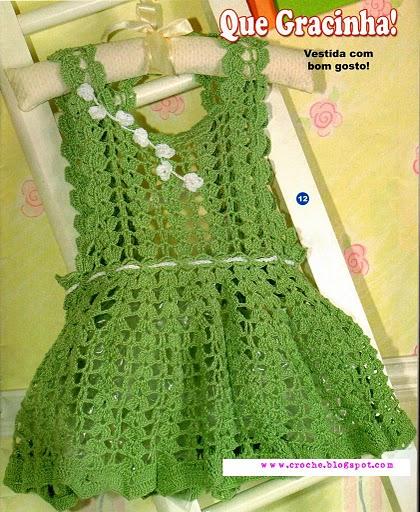 55574483 Vestidinho verde croche foto 23 Детские сарафаны вязанные крючком.