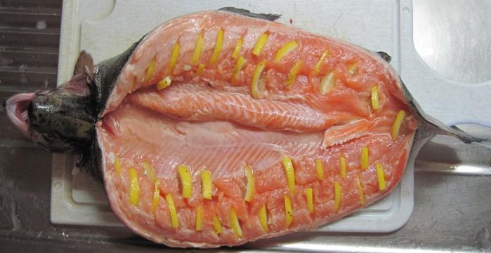 красная рыба рецепты в духовке целиком