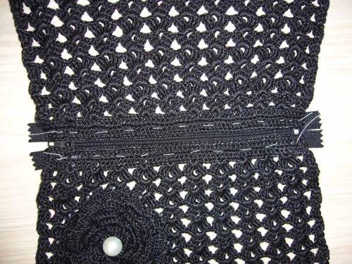 вязание крючком клатч +