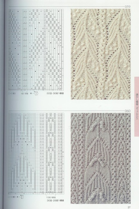 Серия сообщений.  Советы, уроки и узоры для вязания на спицах.