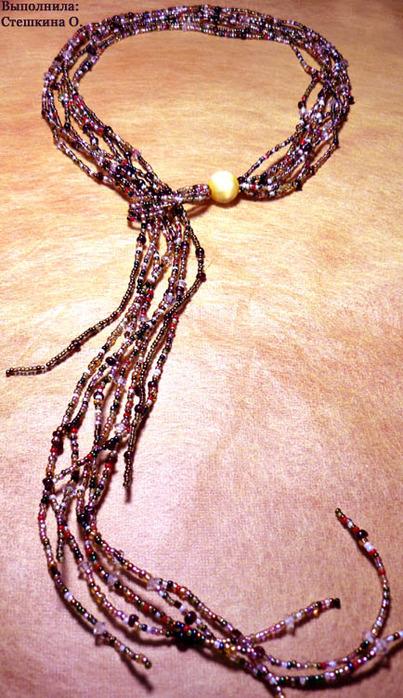 Ожерелья из бисера со схемами.