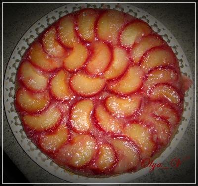 Пирог со сливами перевертыш рецепт с фото пошагово