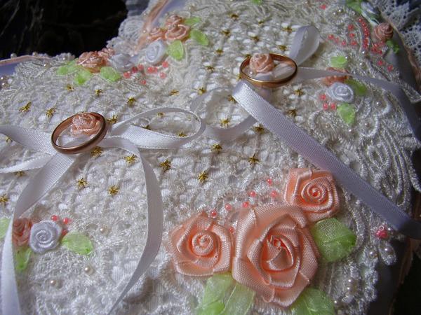 Вышивка лентами для свадьбы 31
