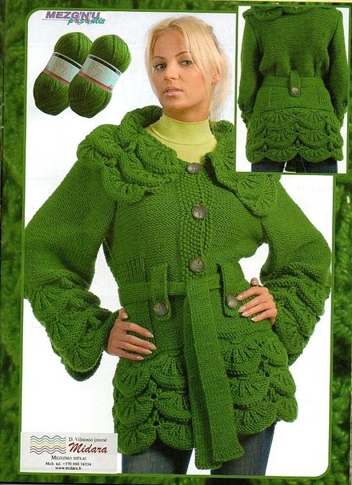 Девочки, вот нашла на Лире с этим рисунком пальто.  Описания нет, только схема.