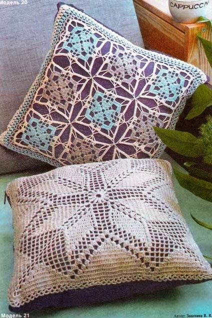 подушка схема. вязание