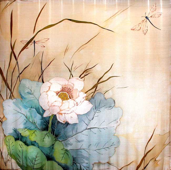 Батик Марии Каминской (платки, шарфики, галстуки) (155 работ) .