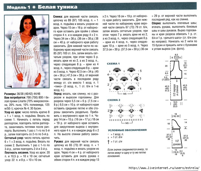 Схемы по вязанию летних моделей 219