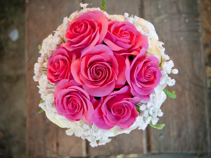 Букет невесты из 7 роз