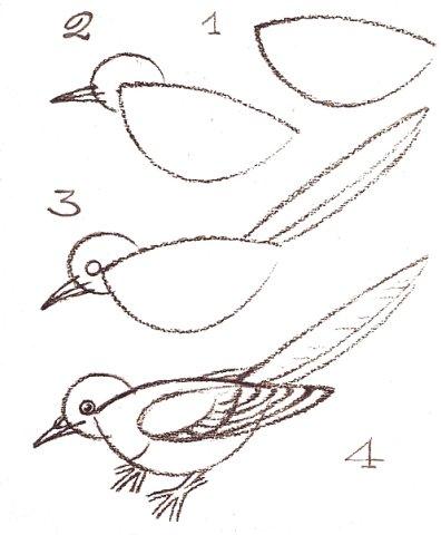как нарисовать скворечник