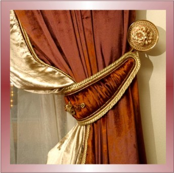 Этот элемент декорирования предназначен для подхватывания штор и придания им эстетического совершенства.