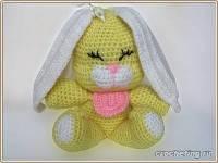 Вязание крючком Модели игрушки и фигурки солнечный зайчик.