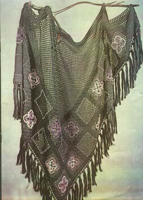 Вязаная шаль. шарфы вязанные крючком схемы.