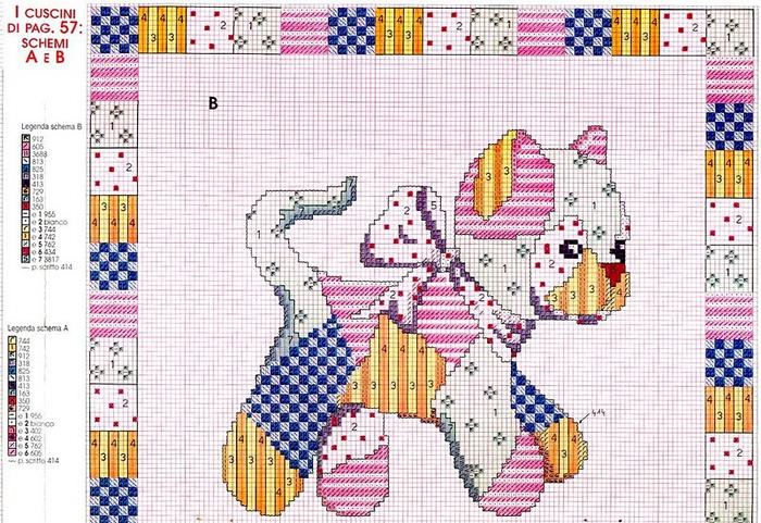 Схема пэчворк с кошками