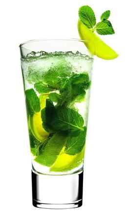 Безалкогольный газированный напиток со вкусом коктейля мохито.