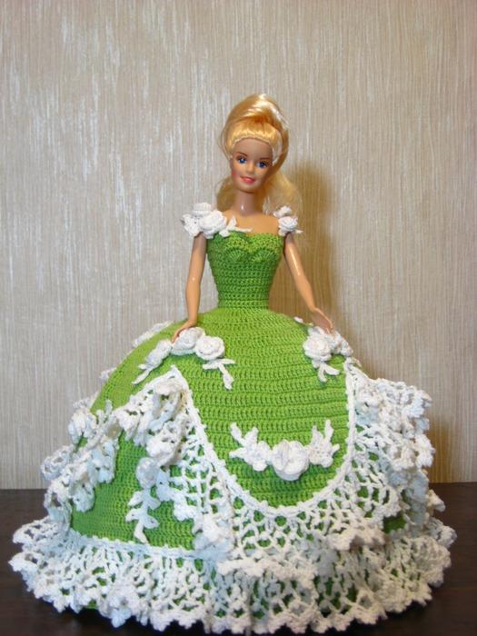 Вязание платьев на барби крючком 227