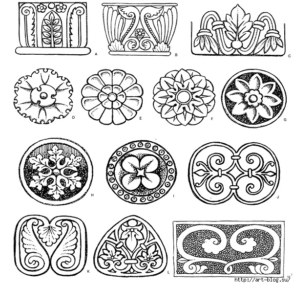 Растительный орнамент древний рим