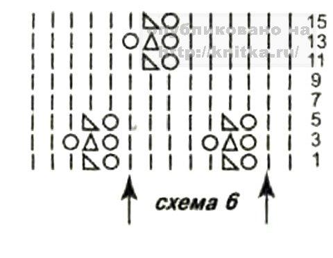 Чепчик схемы вязания