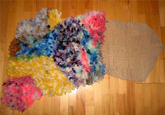 Как сделать из ниток коврик