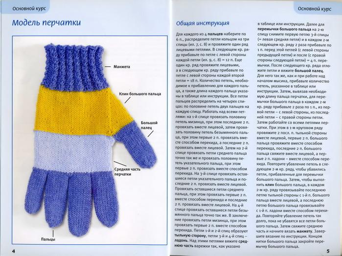 Вязание перчаток для детей 53
