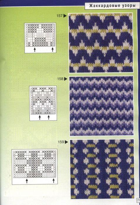 Двухцветное вязание для детей спицами