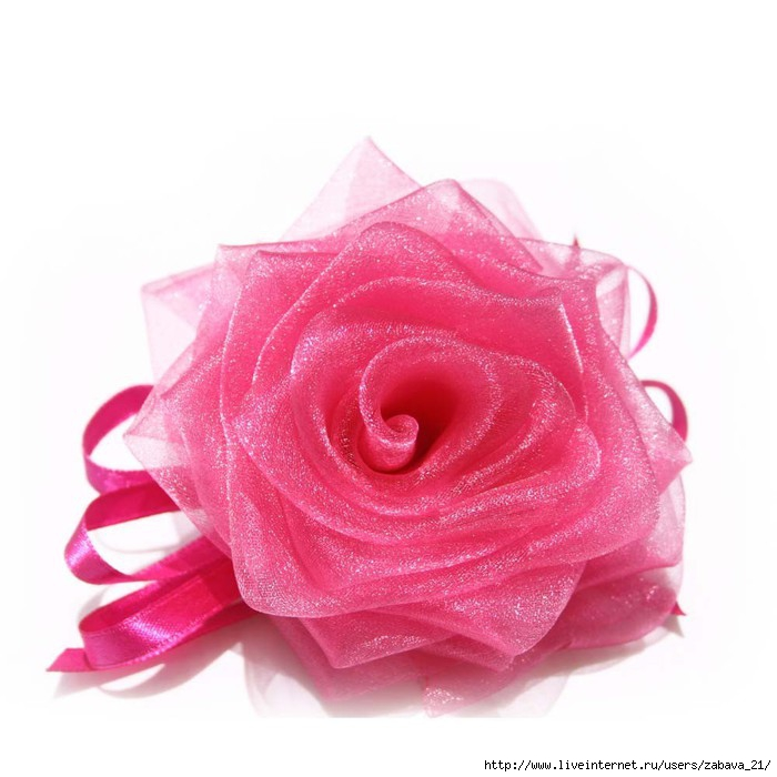 Цветы из лент фото своими руками мастер