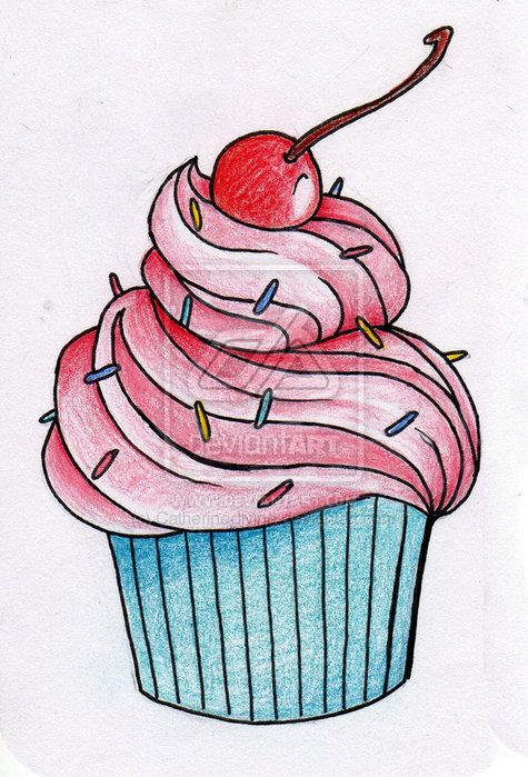 Рисунки пирожное карандашом своими руками