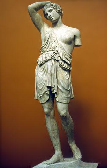 """""""Раненая амазонка"""" Поликлет, 440 до н.э. Нац. музей Рим."""