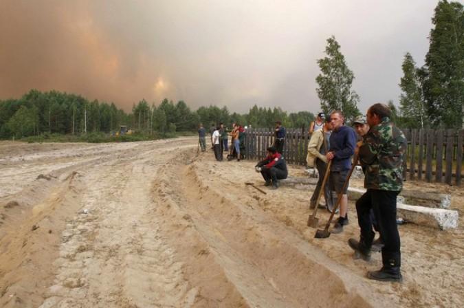Спровоцировала пожары в центре россии