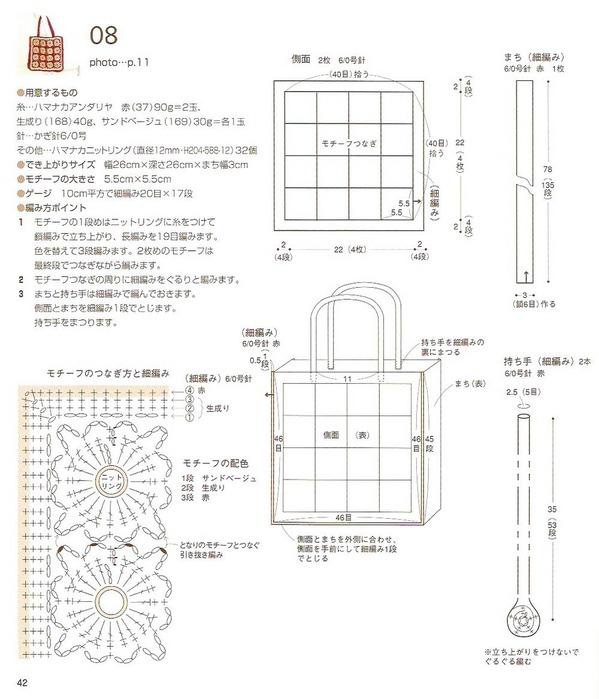 Смотрите схемы вязания сумки крючком.  А здесь очень.