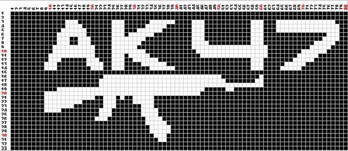 Схема фенечки с лапками - Делаем фенечки своими руками.