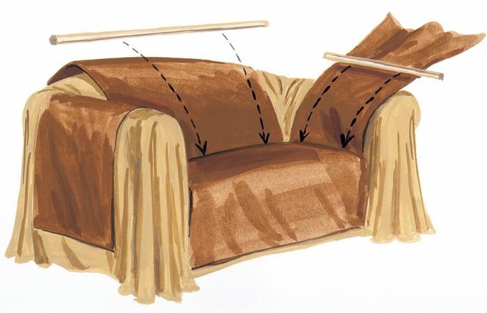 Накидки на кресла фото своими руками