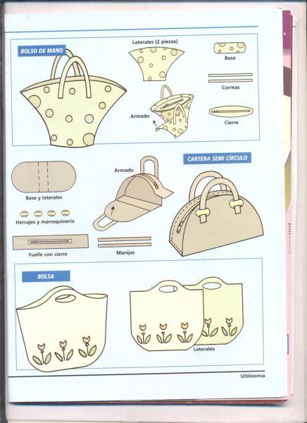 Шитье сумок своими руками.  Инструкции и выкройки. turbobit.net.