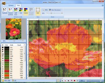 Stitch Art Easy.  Вышивка просто - простая и удобная программа для создания схем по вышиванию крестиком.
