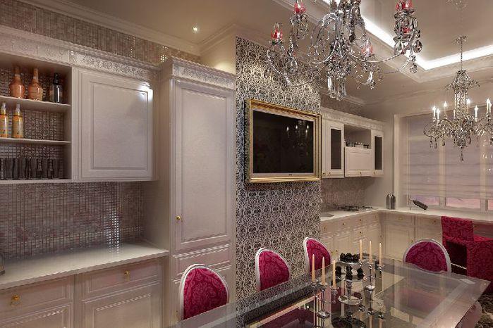 Кухня 6 Ремонт квартиры и дизайн-проект в нео-классическом стиле.