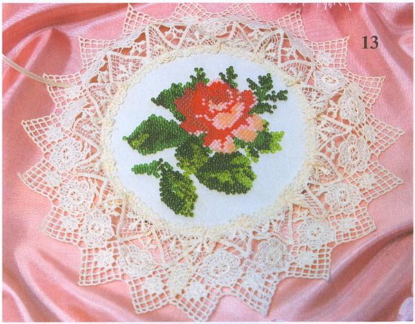 вышивание бисером цветы.