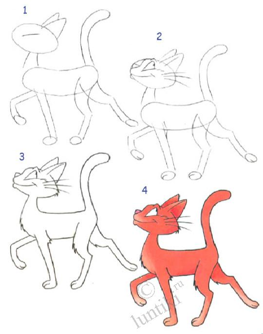 Drawing lessons for kids - a Cat.
