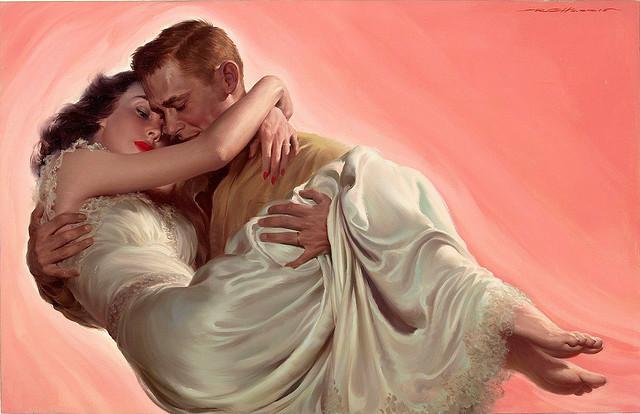 Romantic love.  American ART.