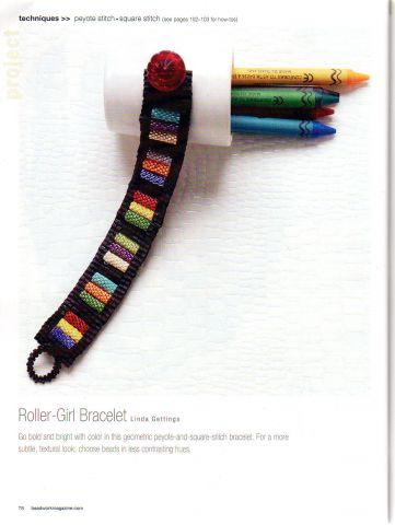 Схема плетения браслета из бисера.