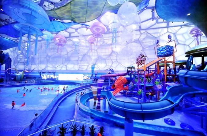 Потрясающе красивый аквапарк (9 фото) .