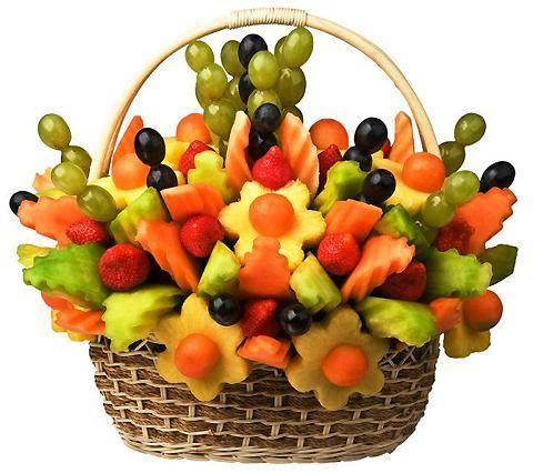 Растите и процветайте на радость всем нам.  Я вам принесла тут в подарок еще одну корзинку с фруктами- угощайтесь!