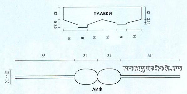 купальник крючком схемы