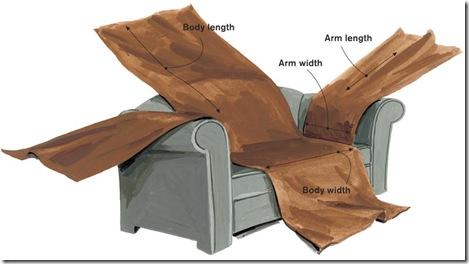 Как пошить чехол на диван на резинке своими руками 160