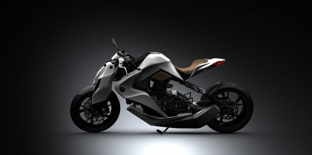 Концепт гибридного мотоцикла 2012 иж 1