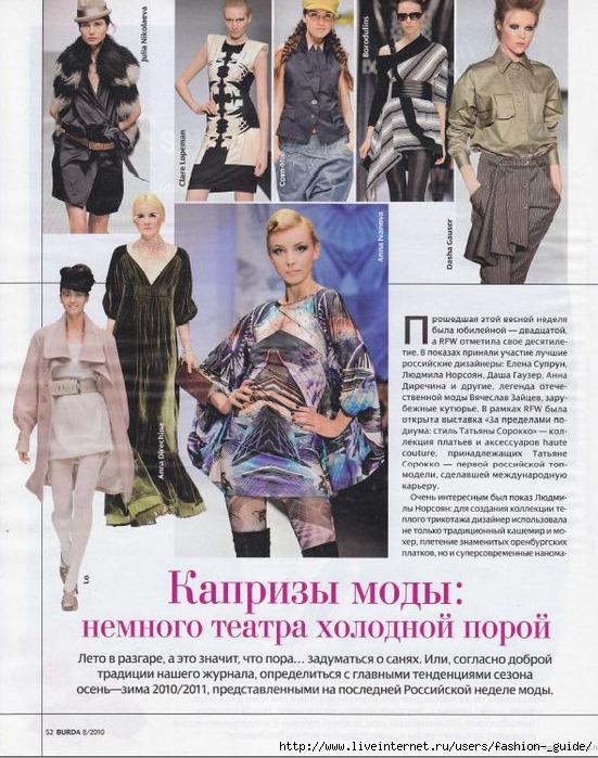 Страницы из модных журналов