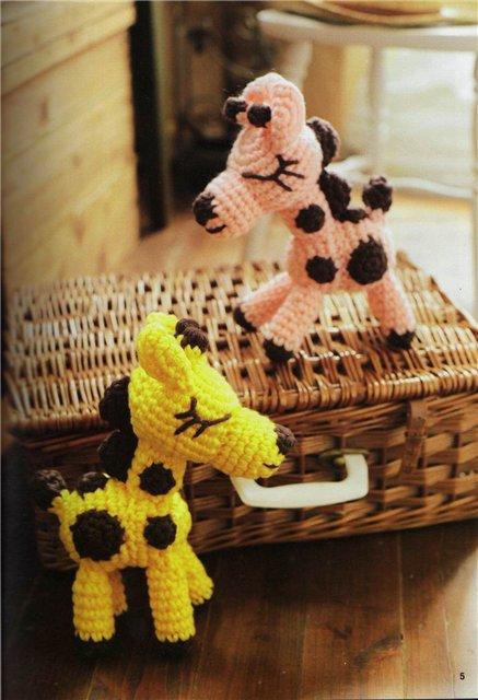 Схема вязания жирафа.  Для отважных, кто не боится японских схем вязания.  Сам жираф.
