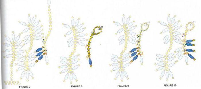 схемы плетения толстых браслетов из бисера.