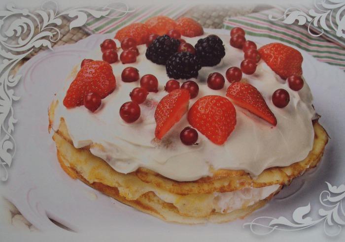 Блинный торт с кремом лучшие торты